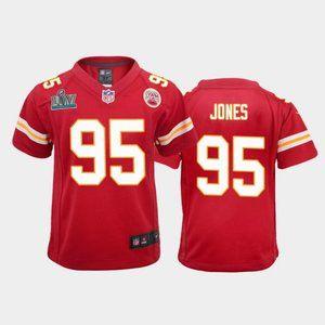 Youth Chiefs Chris Jones Super Bowl LIV Jersey